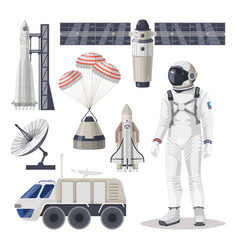 Space exploration cosmos or mars expedition item vector