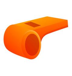 Survival whistle icon cartoon style vector