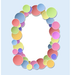 The frame of the circles2 vector image