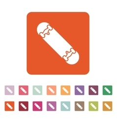 The skateboard icon Skateboarding symbol Flat vector image