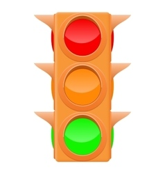 Traffic light Sand color vector image