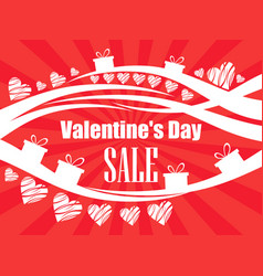 valentines day sale beautiful background with vector image