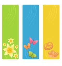 vector easter banners vector image vector image