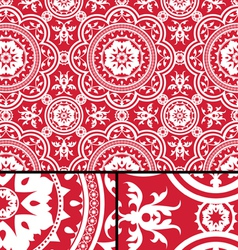 Vintage Victorian Age Red seamless pattern vector