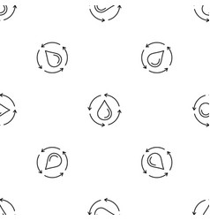 water drop recycling pattern seamless vector image
