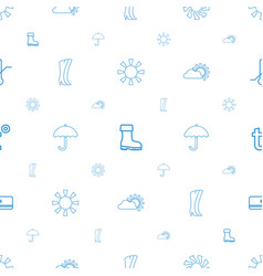 weather icons pattern seamless white background vector image