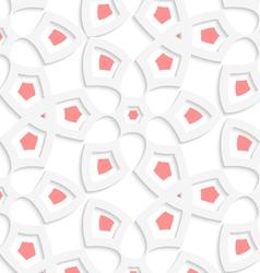 White geometrical floristic net seamless pattern vector