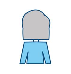 woman back cartoon vector image