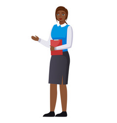 woman dressed formally in flat style icon vector image