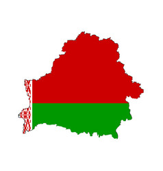 belarusian map on a white background vector image vector image