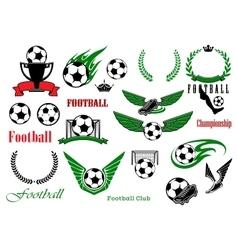 Football or soccer sport game design elements vector image