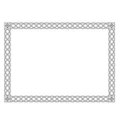 Gothic simple black ornamental decorative frame vector image vector image
