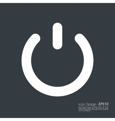 the power button icon vector image