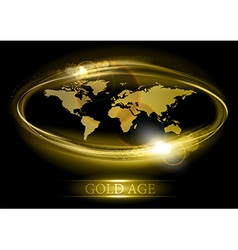 world abstract shine gold vector image vector image