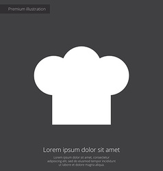 chef hat premium icon vector image vector image