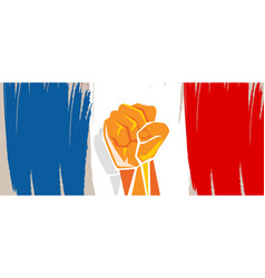 france flag independence painted brush stroke with vector image