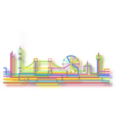 london skyline glow vector image