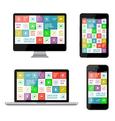Isolated gadgets with ui and web elements vector image vector image