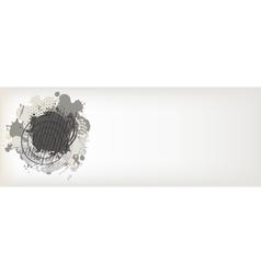 abstract gray blot vector image vector image
