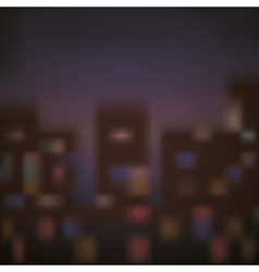 Blurred background of city design vector image