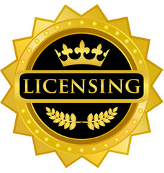 Licensing gold label vector