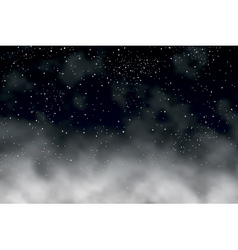 night clouds vector image vector image
