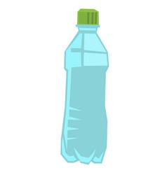 plastic bottle of water vector image