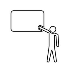 teacher standing near blackboard black color icon vector image