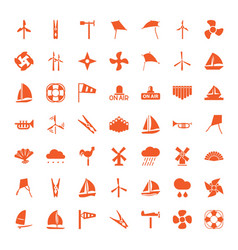 49 wind icons vector image