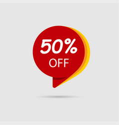 50 off special offer sale discount banner vector image