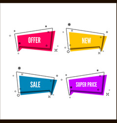 Abstract offers banner colorful bubble with vector