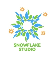 Abstract snowflake logo templates vector