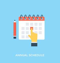 Annual schedule vector