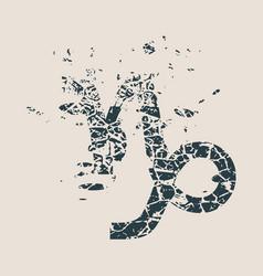 astrology symbols capricorn sign vector image