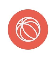 Beach ball thin like icon vector image
