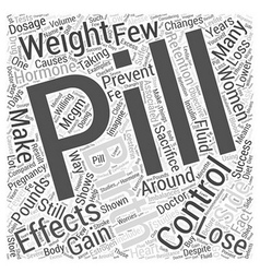 Birth Control Pills and Weight Loss Word Cloud vector
