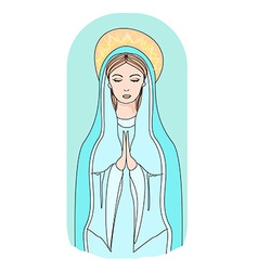 Blessed Virgin Mary vector image