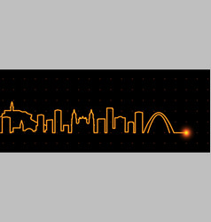 Bogota light streak skyline vector