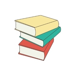 books set in flat design style vector image