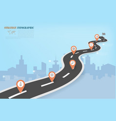 Business infographics with road map pattern vector