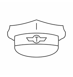 Cap taxi driver icon outline style vector image