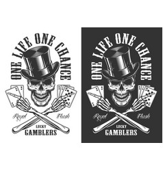 casino concept with skull vector image