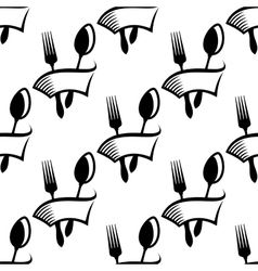 Catering or food icon seamless pattern vector