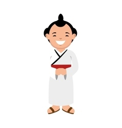 character sumo wrestler japanese vector image