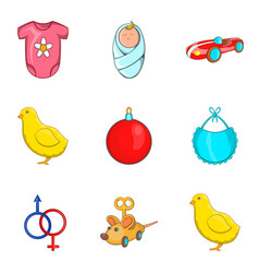 Childs play icons set cartoon style vector