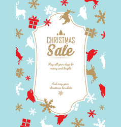 christmas sale and celebration poster vector image