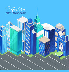 city urban landscape isometric view with vector image