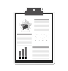 Clipboard and graph icon vector