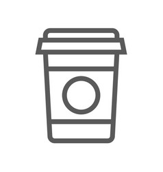 coffee drink and beverage line icon vector image