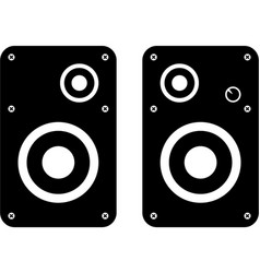 Computer speakers icon vector